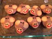 Well they don't exactly resemble Curious George, but we tried...